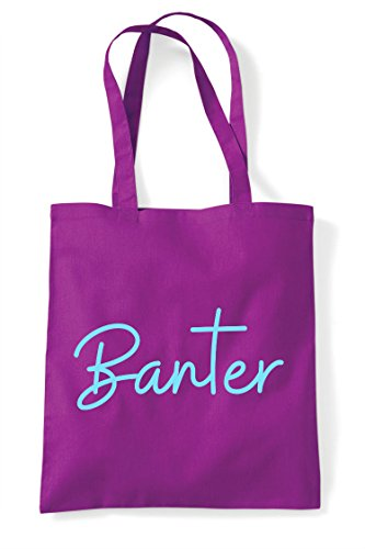 Tote Bag Magenta Shopper Quote Statement Banter Hashtag qvxzPwt