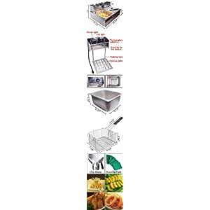 Commercial Dual Electric Countertop Fat Deep Fryer