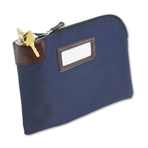 MMF MMF2330981W08 Currency Bags, 7 Pin Security Lock, 11 x 8-1/2, Nylon, Navy 11 x 8-1/2