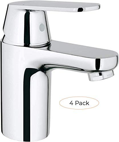 Eurosmart Cosmopolitan S-Size Single-Handle Single-Hole Bathroom Faucet Without Pop Up – 1.2 GPM Four Pack