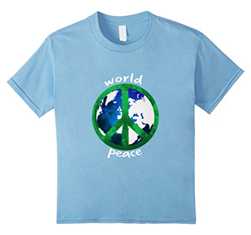 Kids Peace Sign World Peace T-Shirt With Painted Peace Symbol 8 Baby (Blue Peace Sign Womens T-shirt)