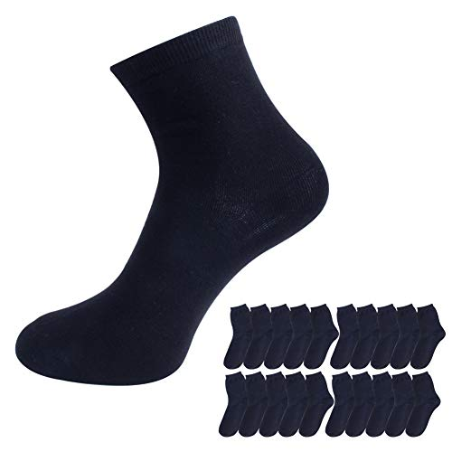 Mens Cotton Crew Menssocks – Comfort Work & Sports Crew Socks 20 Pairs Black