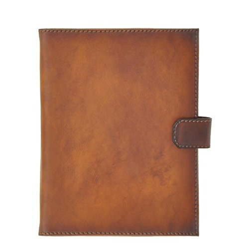 Pratesi Unisex Italian Leather Andrea del Sarto Portfolio Notepad Holder in Brown by Pratesi