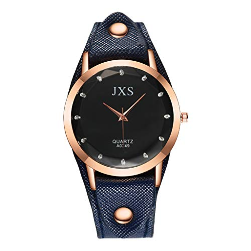 Quartz Watch Woman's High-end Blue Glass Life Waterproof Distinguished Watches for Women Simple Under 5 ❤ Best Gifts for Lovers (Best Deals On Womens Watches)