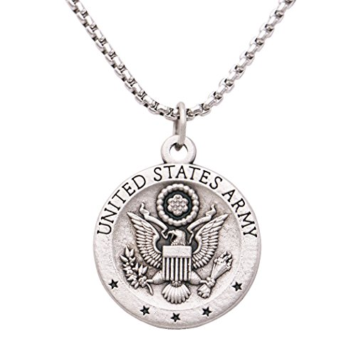 Rosemarie Collections St Michael Military Medal Pendant Necklace United States - Medal Michael Army