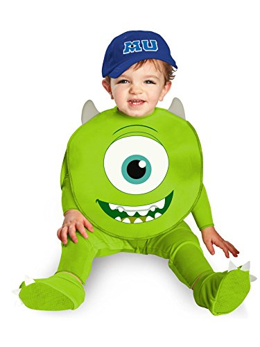 (Disguise Costumes Disney Pixar Monsters University Mike Classic Infant, Green/White/Blue, 12-18)