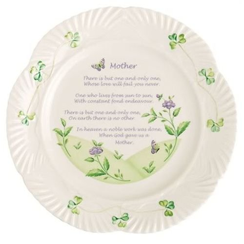 Blessing Belleek Irish Plate (Belleek 9-Inch Mother's Blessing Plate)
