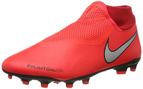 Nike Men's Phantom VSN Academy DF MG (9.5 M US, Bright Crimson/Metallic Silver)
