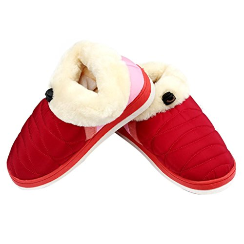 Womens Women Slippers Red Women Slippers House voberry® Slippers Cozy Fleece qRIRwr