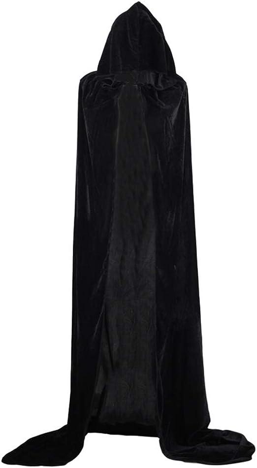 LAAT Halloween Cape de Vampire Noir Cape de la Sorci/ère Cape De Mort Deguisement Vampire Cape Accessoire Faire la f/ête pour Adultes et Enfants Noir-XL-150cm