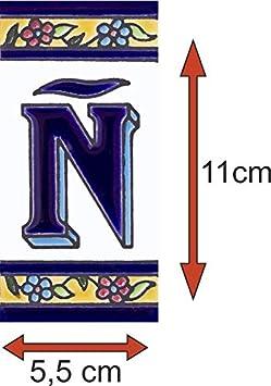 Numero 0 Numeros y letras para casa 5,5 x 11 cm pintado a mano