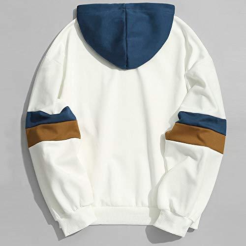 À Revers De Hoodie Blouson Hiver Pulls Vetement Artificielle Outwear Angelof Homme Blanc Capuche Sweatertissu Matelassé Trench Laine Manteaux coat Chaud YxqRIxa7w