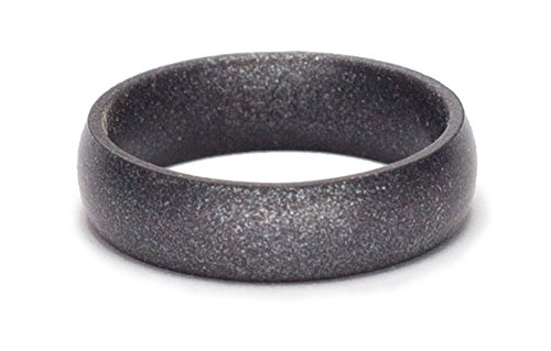 SafeRingz Metallic Silicone Wedding Ring Made in the USA, Gunmetal 9