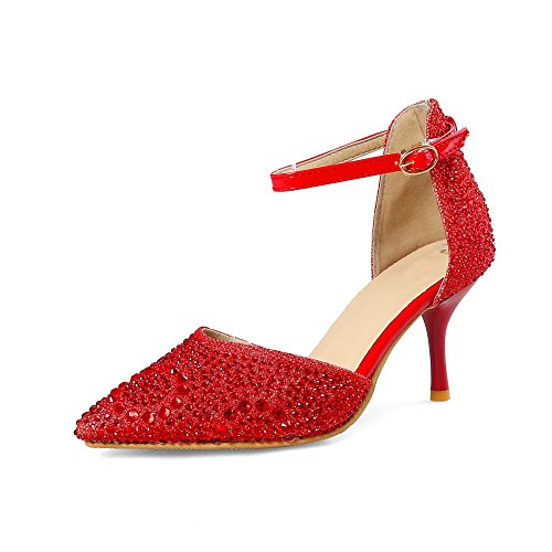 5 Red Femme EU Sandales Rouge 36 Compensées BalaMasa Px8nYq