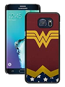 Recommended Design Samsung Galaxy S6 Edge+ Case,Wonder Woman Logo 3 Black Samsung Galaxy S6 Edge Plus Customized Case