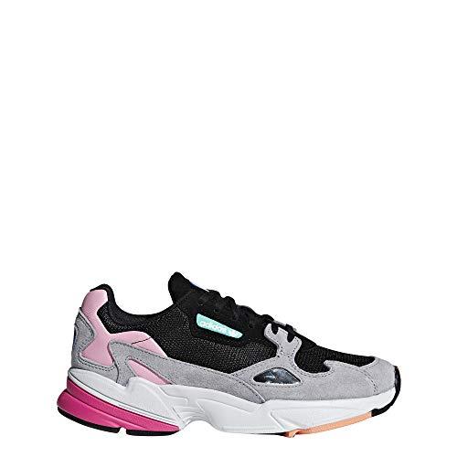 adidas Falcon Womens (9.5 B(M) US, Core Black/Light Granite)