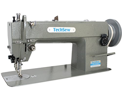 Techsew 0302 Leather Walking Foot Industrial Sewing Machine with Assembled Table & Servo Motor by TechSew
