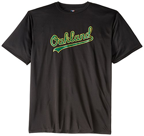 MLB Oakland Athletics Synthetic Screen Print Short Sleeve T-Shirt, Black, 3X-Large Tall Athletic Screen Print T-shirt