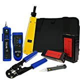 Network Cable Tester Wire Tracker Non-contact Voltage Detector Punch Tool Cable Crimper RJ45 RJ11 Cable Diagnosis Tools Toolkit