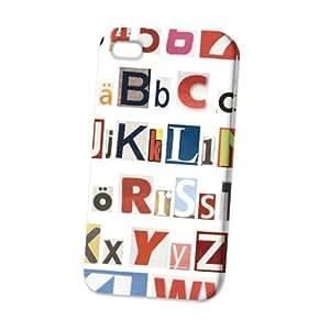 Case Fun Apple iPhone 4 / 4S Case - Vogue Version - 3D Full Wrap - Alphabet
