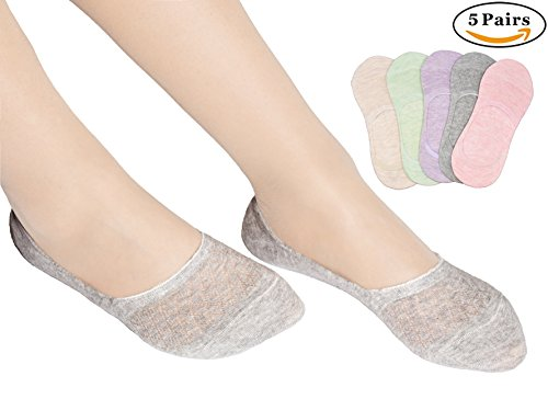 Ellewin No Show Women's Socks Low Cut Casual Sock with Non-slip Silicon Gel