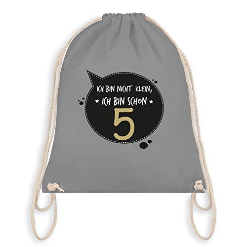 Shirtracer Geburtstag Kind - Ich bin nicht klein, ich bin schon 5 - Turnbeutel I Gym Bag Hellgrau