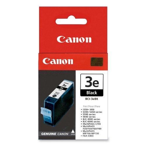 CANON BCI3EBK BCI3EBK (BCI-3E) Ink Tank, 560 Page-Yield, ()