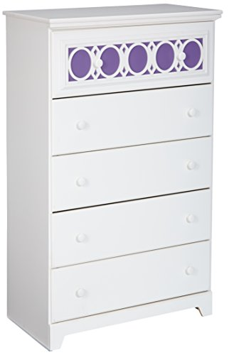 Signature Design by Ashley Furniture Zayley 5-Drawer Chest in White