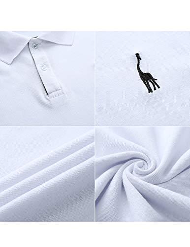 T Tennis Manica Sttlzmc Casual Uomo Lunga Gentiluomo Polo S Ricamo Tops shirt Bianco xxl Fwx4TqxYR