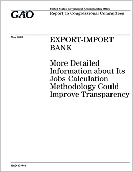Export-Import Bank :more detailed information about its jobs