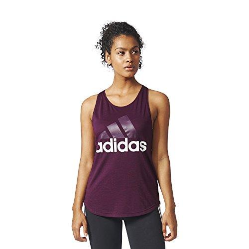 adidas Women's Athletics Essential Linear Logo Tank Top, Red Night, Medium