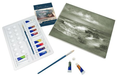 ROYAL BRUSH POM-SET6 Acrylic Paint Your Own Masterpiece-Hampton Beach by Royal & Langnickel (Hampton Paints)
