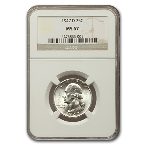 1947 D Washington Quarter MS-67 NGC Quarter MS-67 NGC