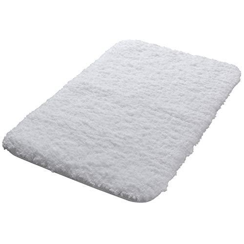 Lifewit 16″x24″ Bath Mat Non-Slip Bathroom Rug Microfiber Water Absorbent, White