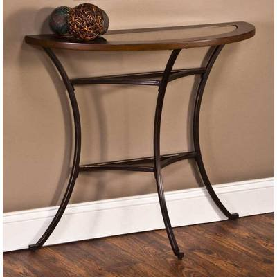 Montclair Console Table Half Glass Top Desk