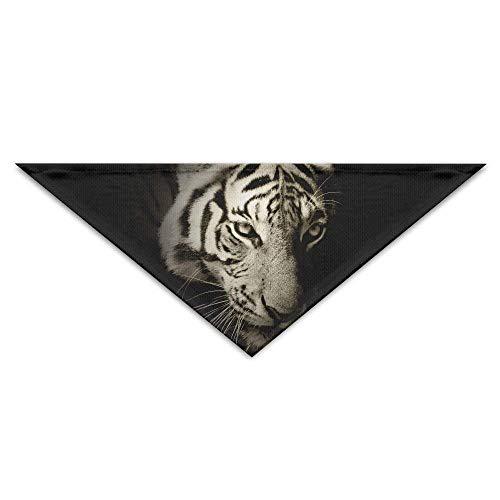 (Large beach pants White Tiger Triangle Pet Scarf Dog Bandana Pet Collars Dog Cat -)