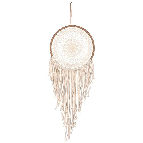 Acchiappasogni grande crema string acchiappasogni con nappe Jones Home And Gift