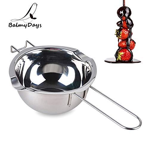 1 piece Stainless Steel Chocolate Melting Pot Double Boiler Butter Caramel Melt Pan Long Handle Heating Pot Bowl Pastry Baking -
