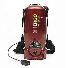 Atrix – VACBP36V Backpack Cordless Vacuum HEPA Filter Battery Powered Cordless Backpack Vac (Red)