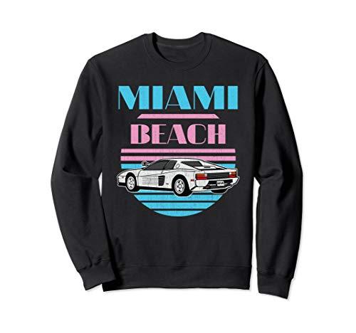 - Miami Beach Florida Vintage Retro 80s Vacation Men Sweatshirt