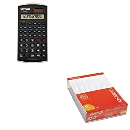 KITUNV20630VCT9302 - Value Kit - Victor 930-2 Scientific Calculator (VCT9302) and Universal Perforated Edge Writing Pad (UNV20630)