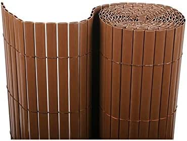 Cañizo PVC Doble Cara Marrón Chocolate 2x3m: Amazon.es: Jardín