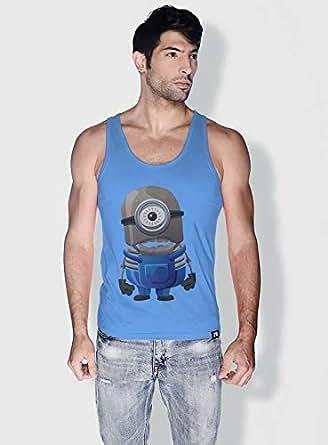 Creo Minion Skeleton Minions Tank Top For Men - Blue, L