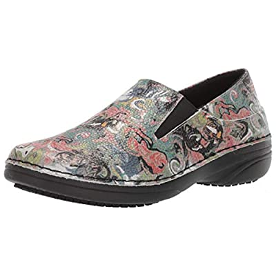 Spring Step Professional Women's Manila-PAINTPOT Shoe, Black Multi, 8 Medium US | Mules & Clogs