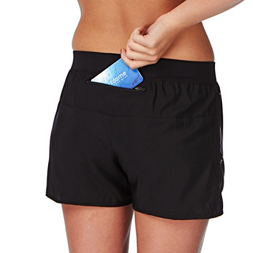 ASICS 110428 - Pantalones cortos tejidos de 9 cm para mujer negro