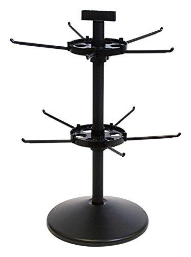 18 H x 9.5 Diameter 2 Tier Black KC Store Fixtures 24308 Counter Rack Spinner