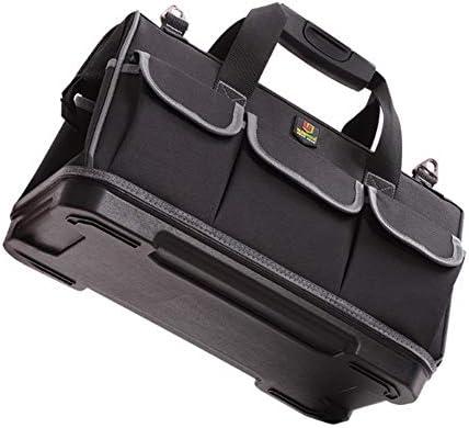 YoungMax ツールバッグ 工具バッグ 大口 大容量 工具 大工道具 バッグ 修理 カバン道具袋 キャリー 17つポケット 大容量 ショルダー 手提げ 撥水 耐摩耗 作業カバン 1680Dオックスフォード 作業用 工具差し入れ 3サイズ(17インチ)