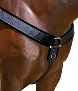 Professionals Choice Equine Neoprene Breast Collar (Universal Size, Black)