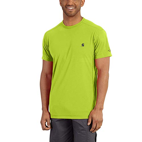 Carhartt Men's Force Extremes Short Sleeve T Shirt, Sour Apple, - Dry Carhartt Work