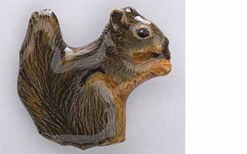 Peint à la main ~ ~ marron ~ écureuil Pin's (épinglette/Broche ~ mp184a